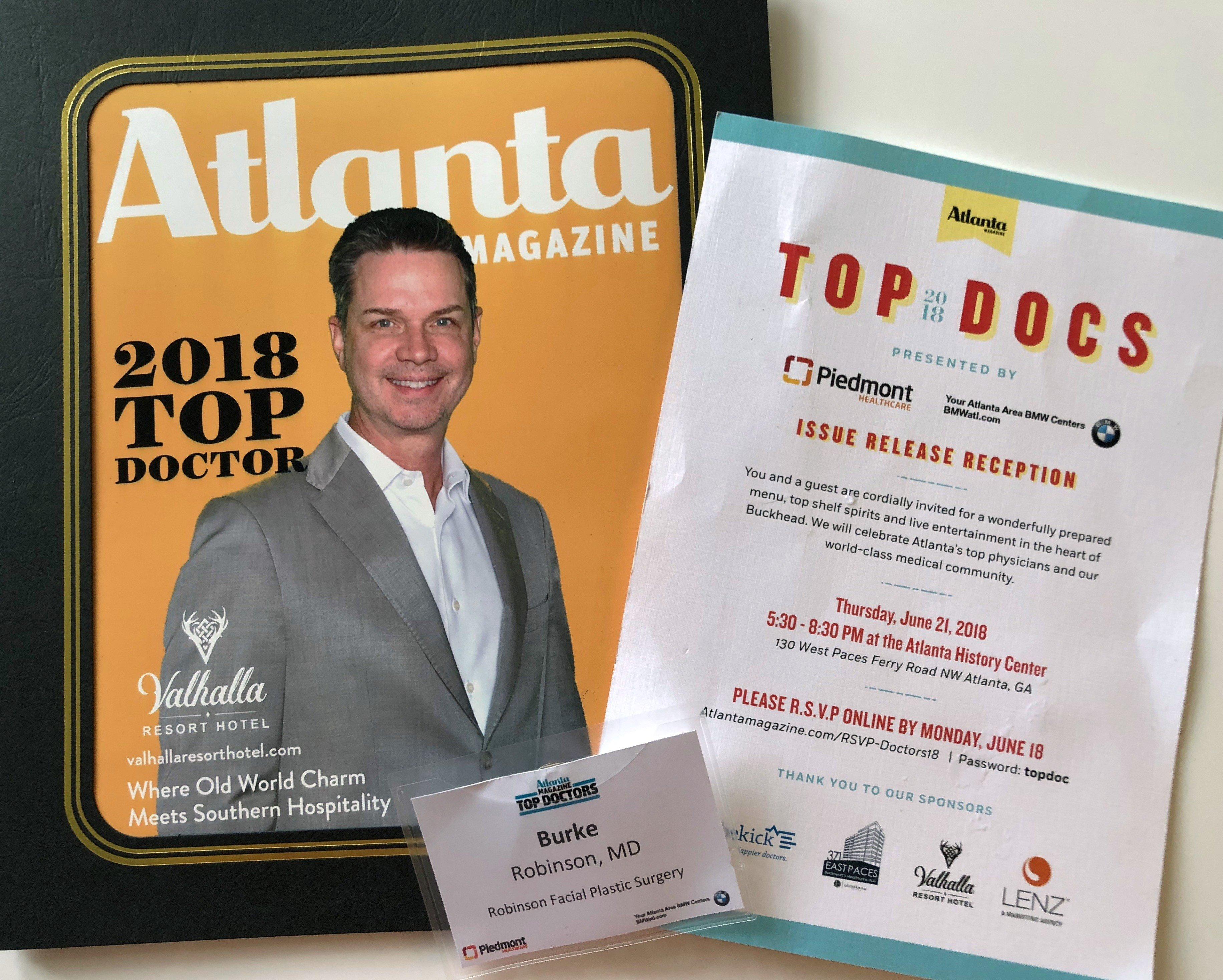 Atlanta Magazine Top Doctor 2018