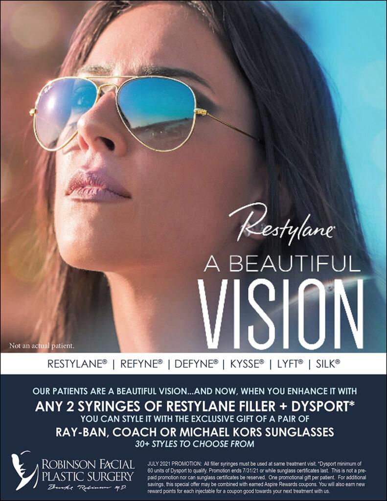 July Restylane Sunglasses Promotion