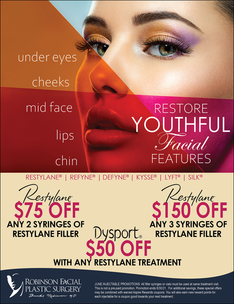 June Restylane Restore Youthful Facial Features Promos