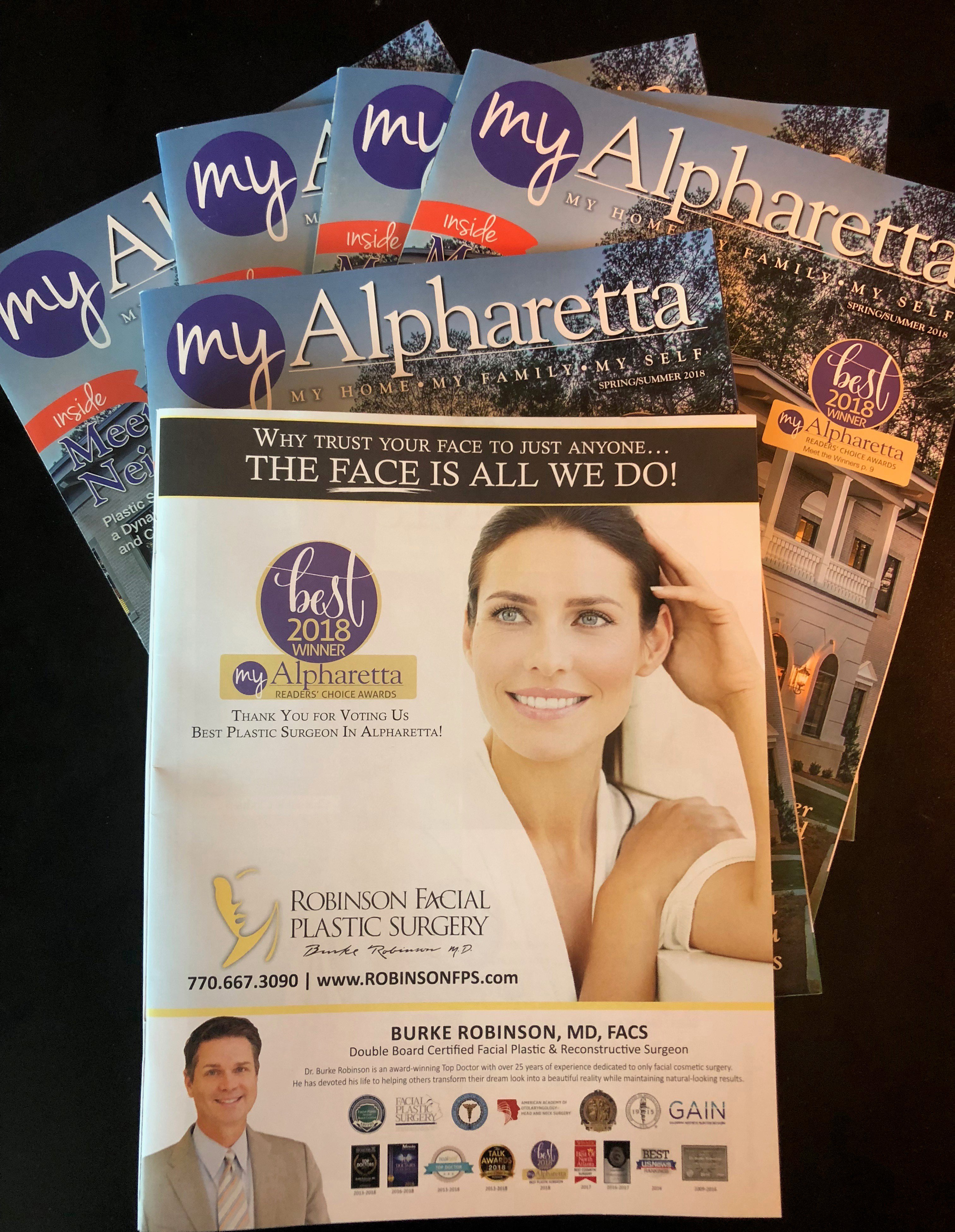 My Alpharetta 2018 Best Plastic Surgeon