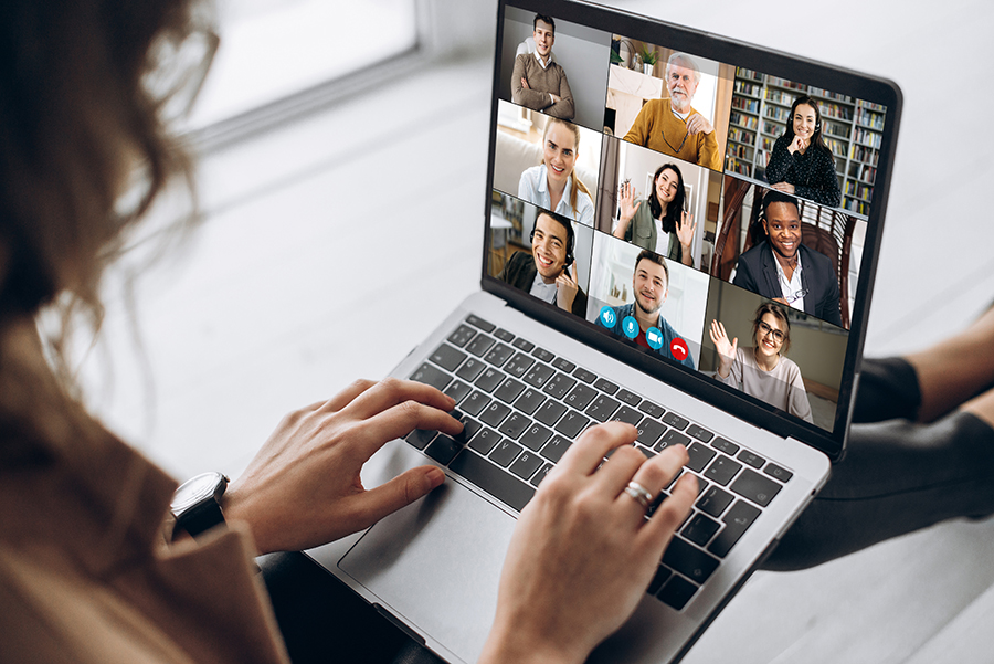video call conference online meeting virtual people business