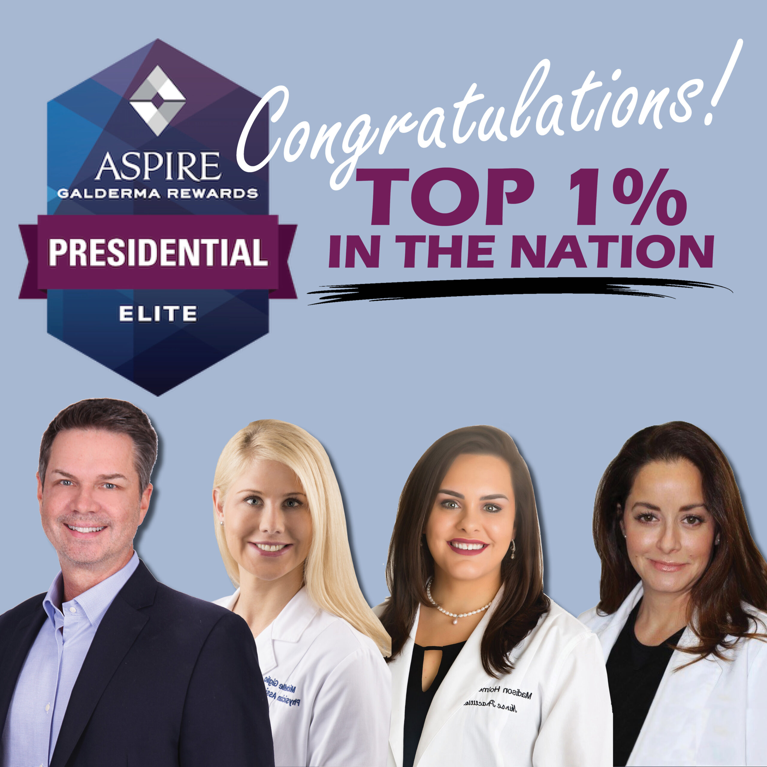 top 1% injectables account in the nation